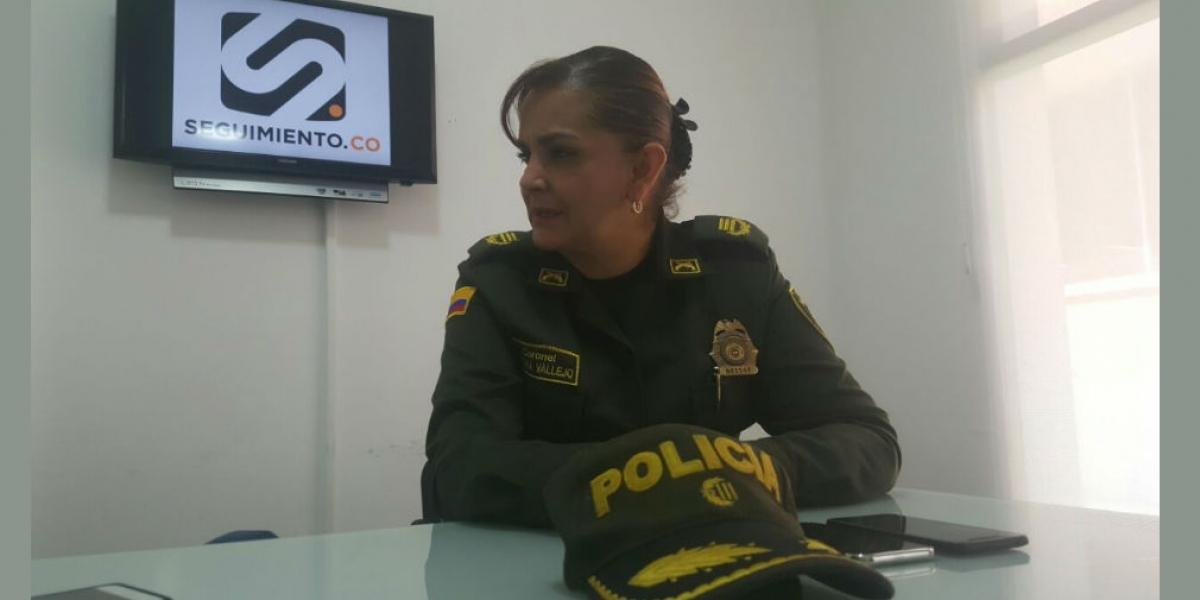 Coronel Sandra Vallejos.