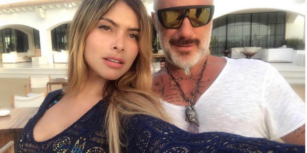 La modelo antioqueña María Alejandra Londoño con Gianluca Vacchi.