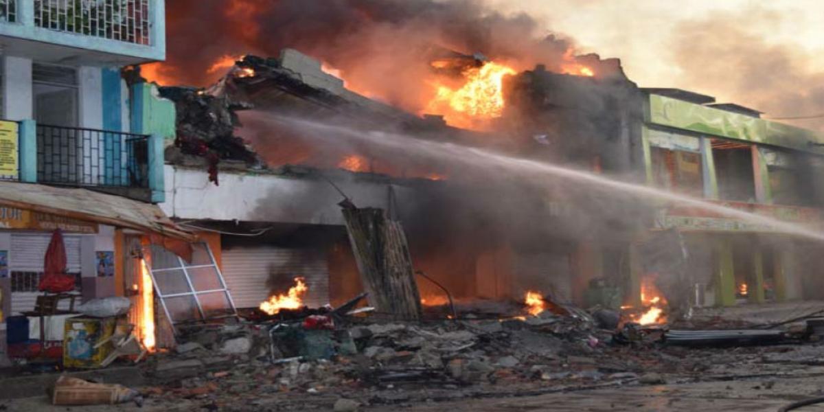Incendio Santa Marta