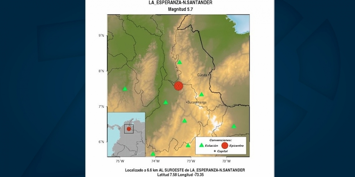 El sismo se sintió en el sur del departamento del Magdalena.