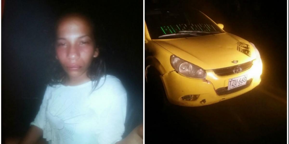 Ciudadana venezolana y taxi robado.