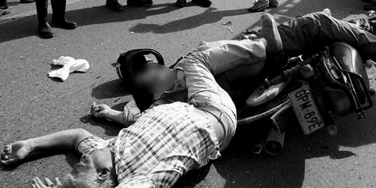 Muerto en accidente en la vía de la Cordialidad.