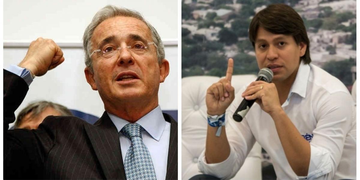 Álvaro Uribe Vélez y Rubén Jiménez.