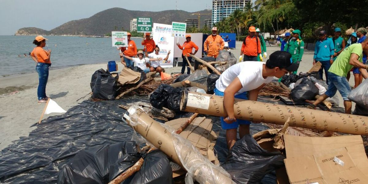 Fueron retirados 620 kilogramos de residuos.