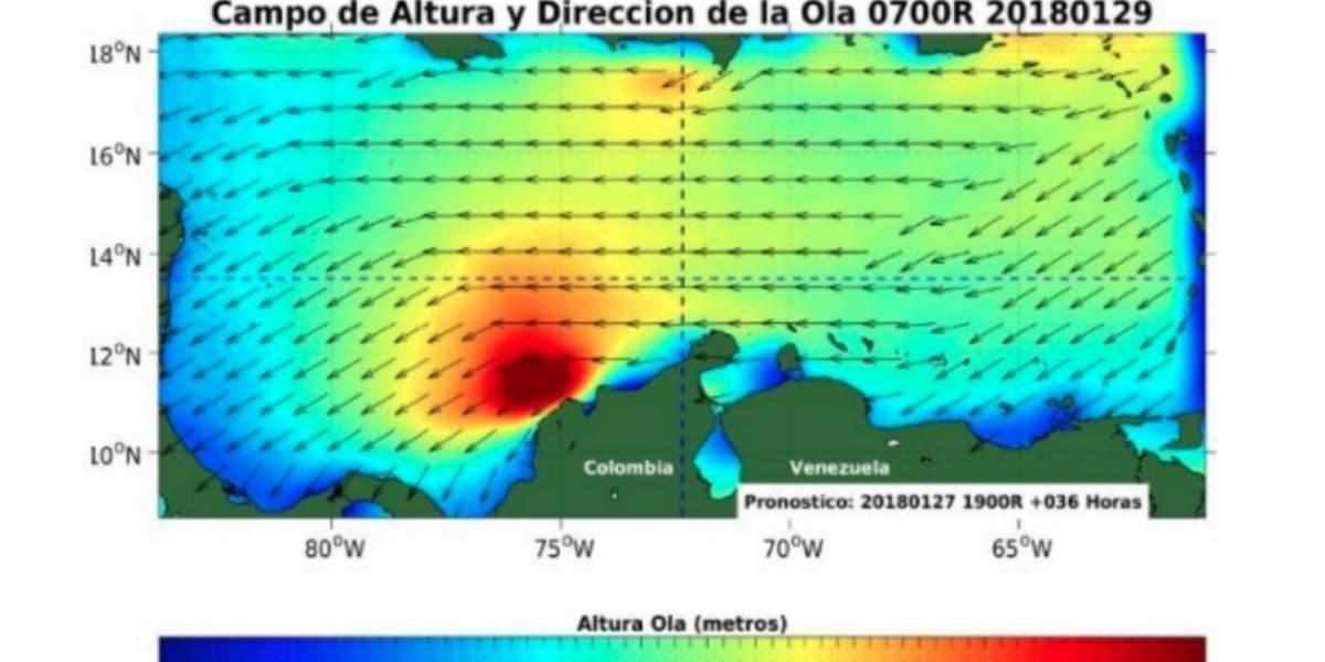 Advierte que la altura de oleaje esta entre 2.0 y 3.0 metros.