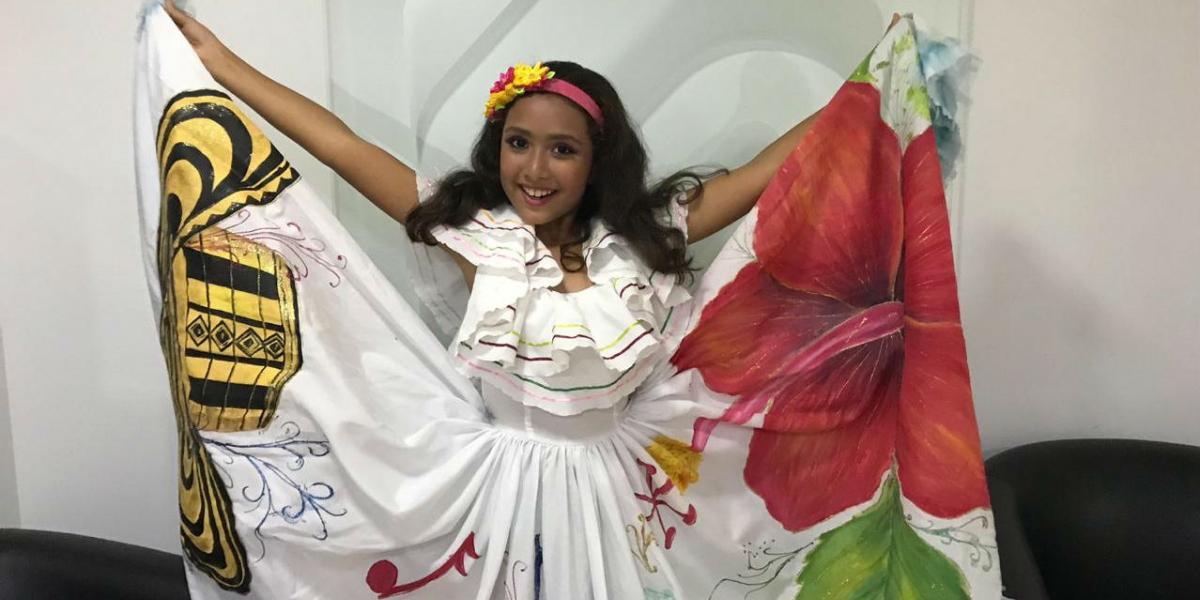 Izabelle Monsalve Vergara, Niña Folclor Santa Marta