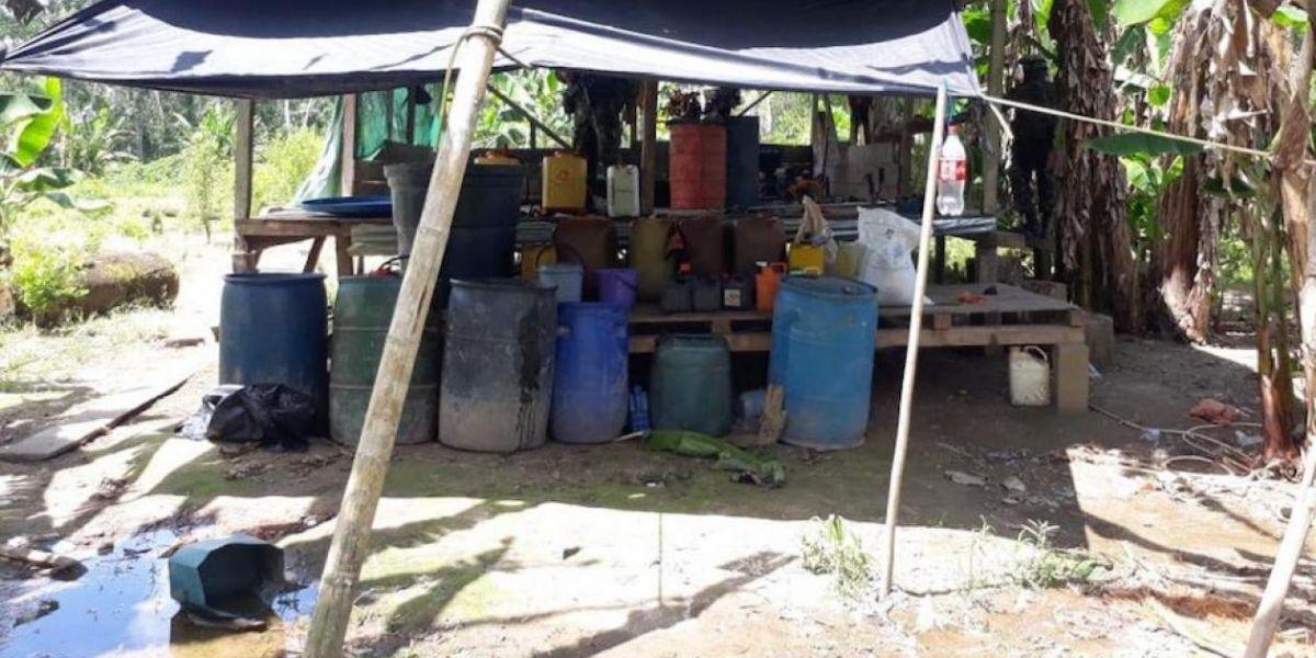Seis laboratorios fueron destruidos en municipios del Putumayo.
