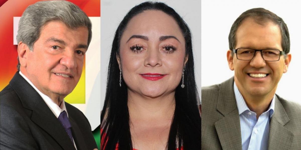 Los excongresistas Jorge Géchem, Argenis Velásquez y Humphrey Roa.
