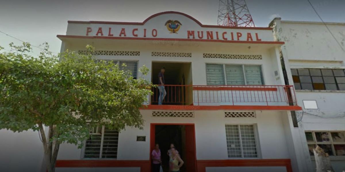 Fachada de la Alcaldía de Guamal.