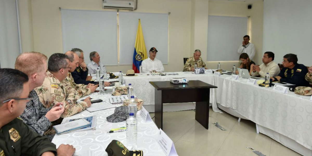 El presidente Duque lideró el Consejo de Seguridad que se realizó en el Batallón Córdova.