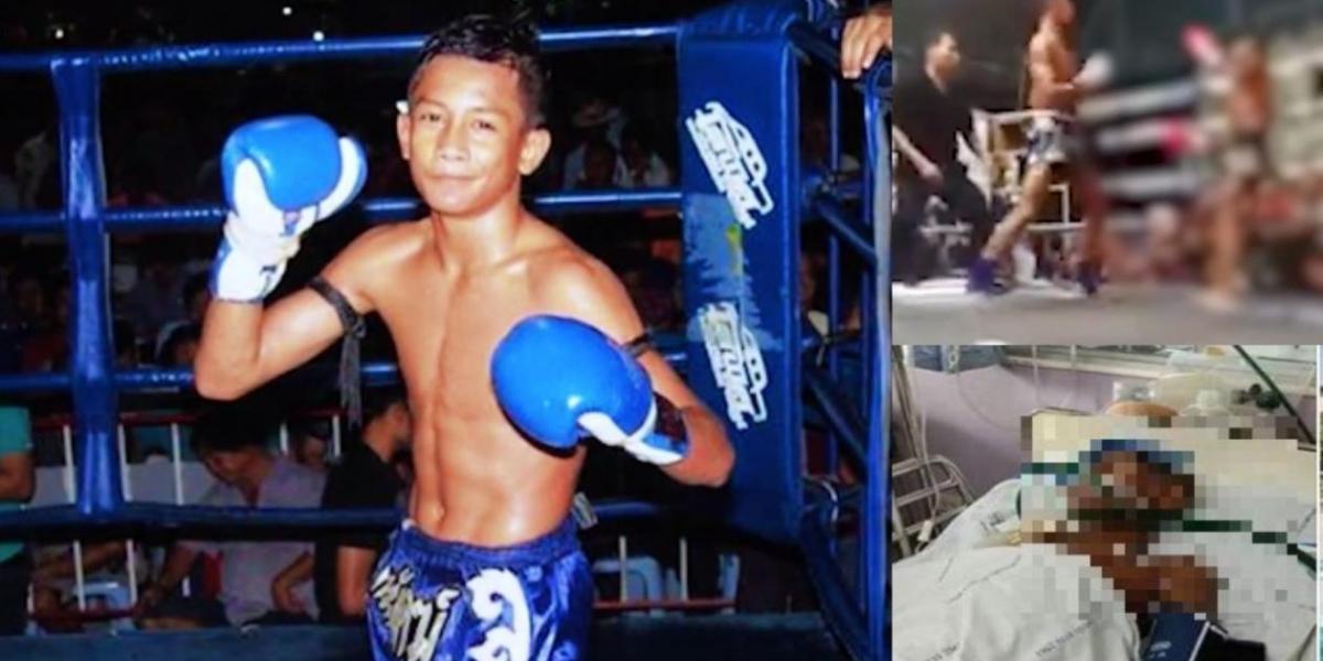 Boxeador adolescente que murió tras un combate en Tailandia.