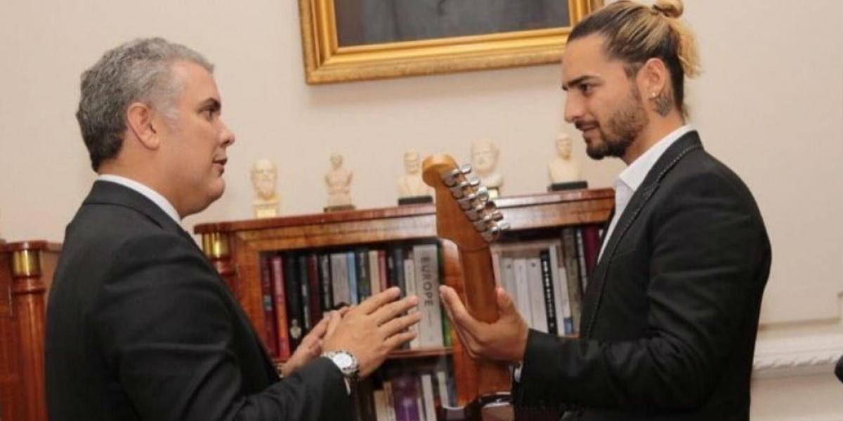 Iván Duque, reunido con Maluma.