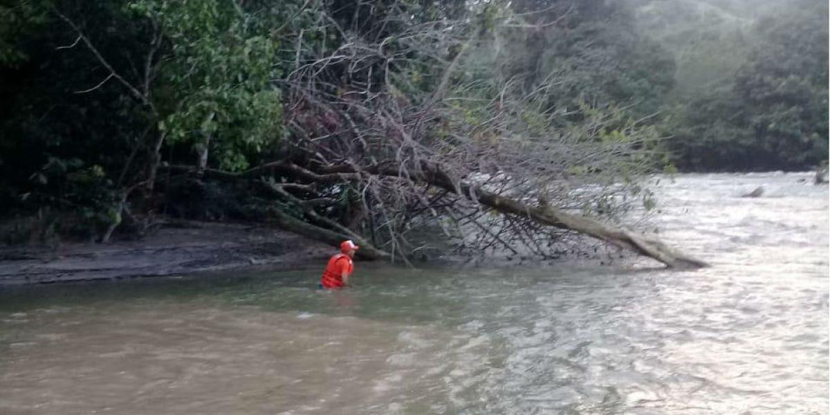 Lugar donde fue encontrado el turista ahogado.