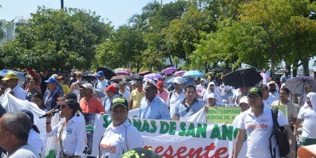 Los docentes marcharán nuevamente este miércoles en la jornada de Paro Nacional.
