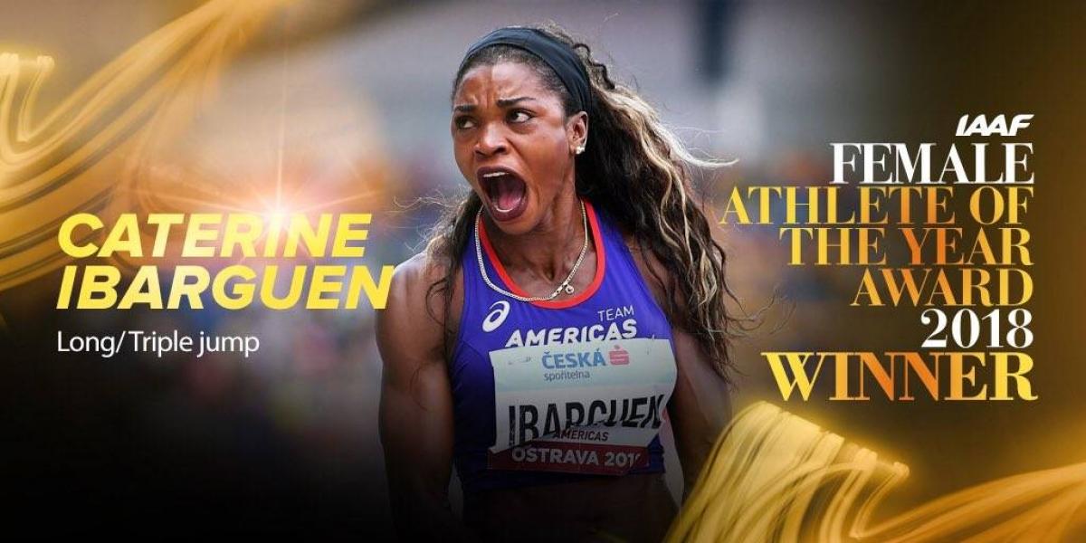 Caterine Ibargüen ganó el premio a la mejor atleta del mundo del 2018.