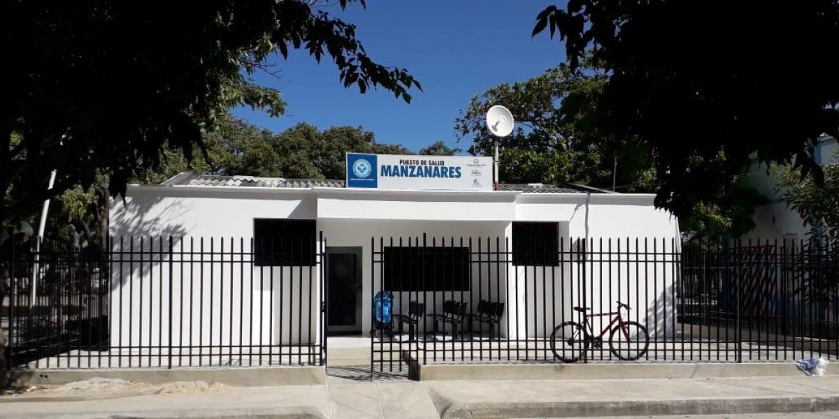 Puesto de salud del barrio Manzanares.