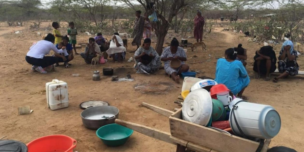 Resultado de imagen para Los WAYÚU sin agua