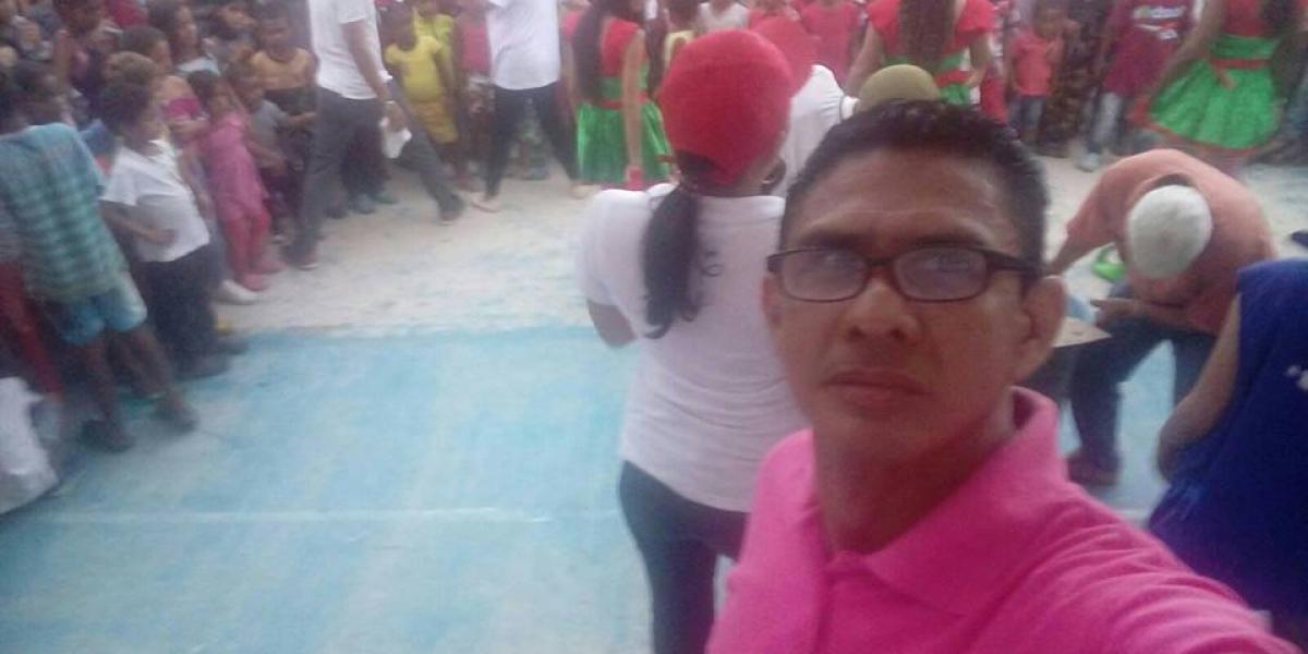 El periodista y locutor Víctor Diago Cardozo, asesinado en Riohacha.