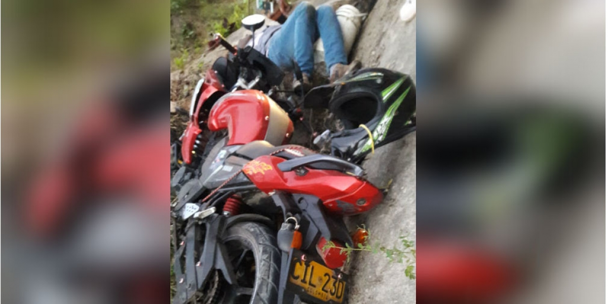 Moto accidentada