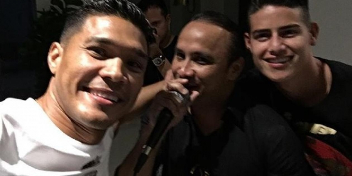 Teo Gutiérrez, Wilfran Castillo y James Rodríguez.