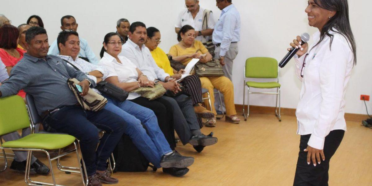 la secretaria de educación,Nidia Rosa Romero, socializó la nueva ruta de educación.