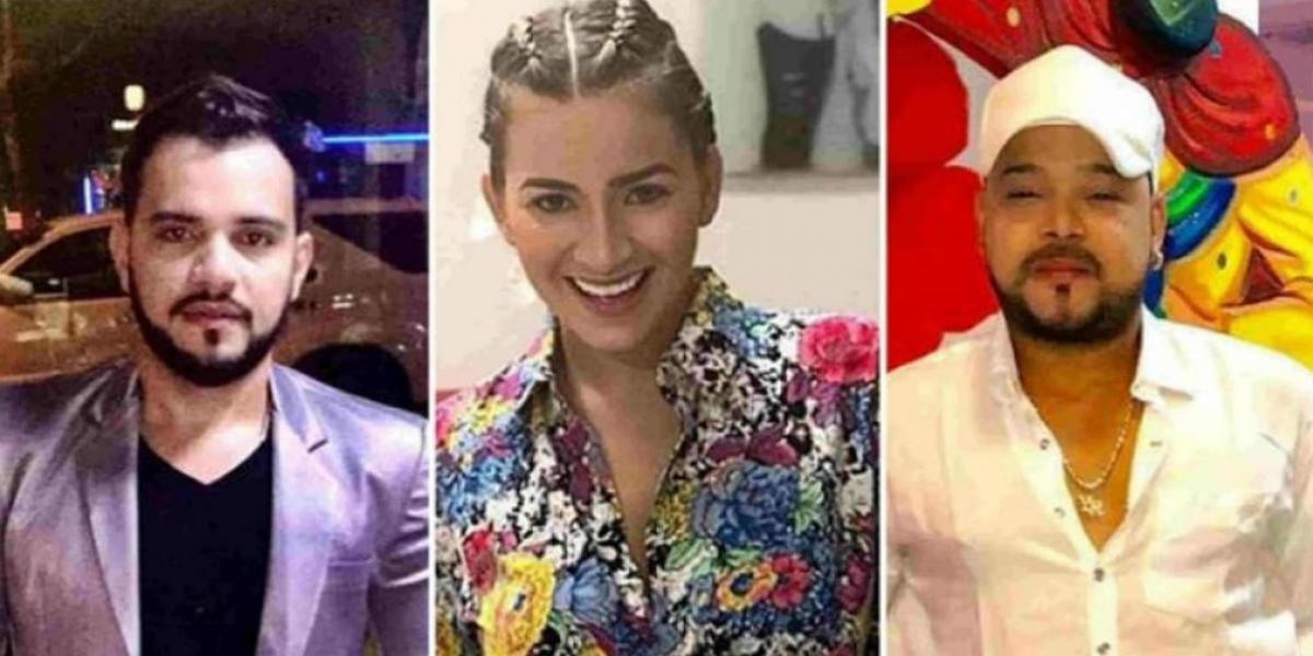 El 'Nene' , Anny Sarmiendo y Yader Romero.