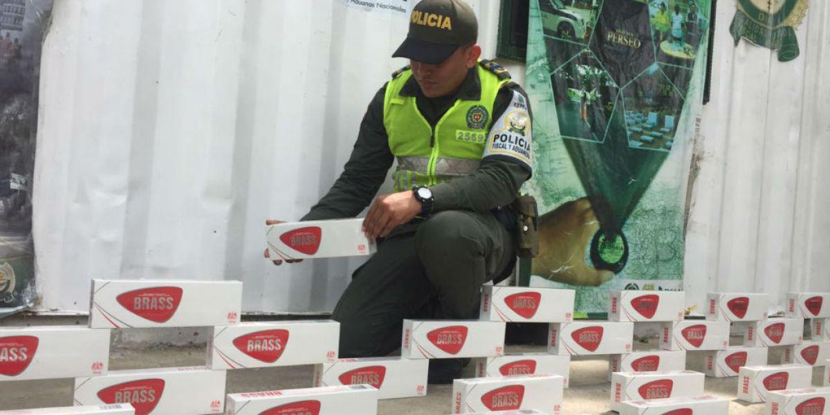 Policía incautó mercancía de contrabando avaluada en 50 millones.