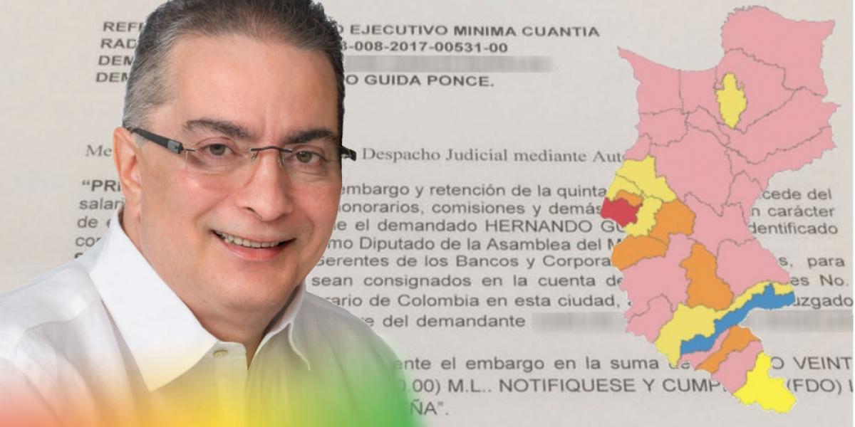 Hernando Guida está en medio del ojo del huracán electoral: está endeudado y embargado.