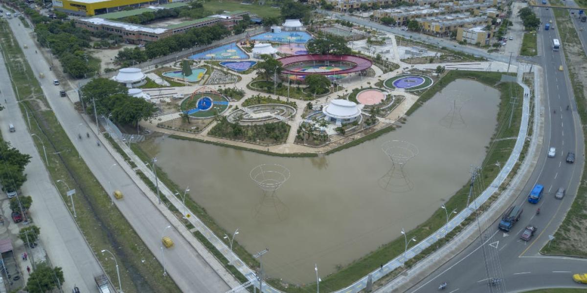 Panorámica del Parque del Agua, en Santa Marta.