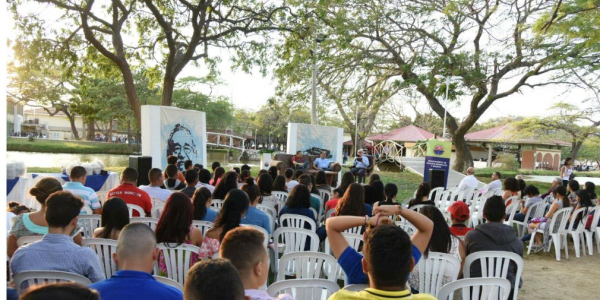 En la Zona del Lago de la Universidad del Magdalena, la actividad que se realizó fue 'Caribe Literario', cuya esencia consistió en hacer un recorrido por la obra de los escritores colombianos de la región Caribe.