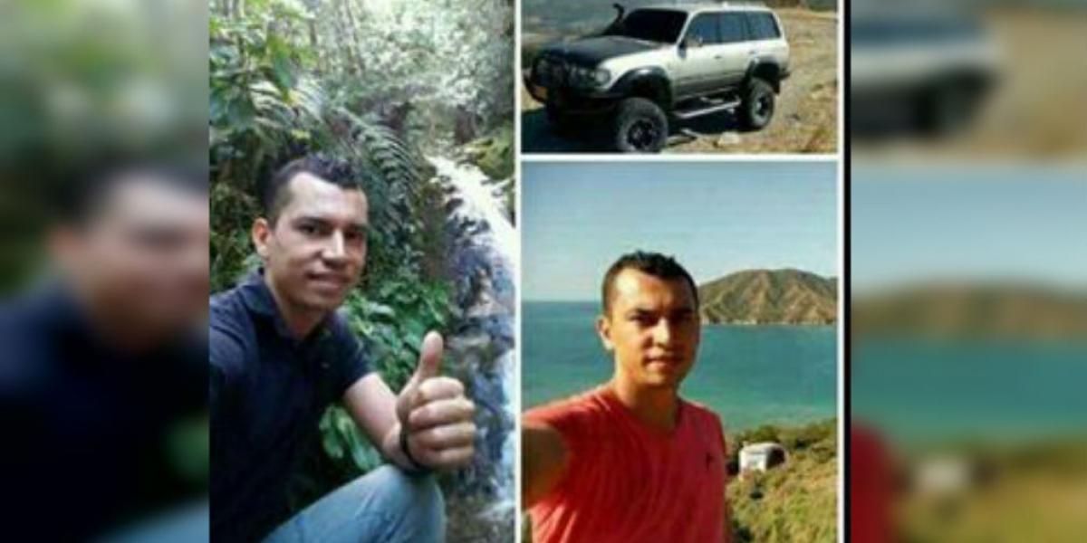 Esta es la imagen con la que los familiares dieron a conocer en redes sociales la desaparición de Jeiner Jair Rincón Blanco.