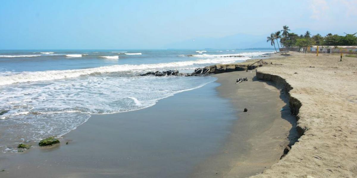 Erosión costera en Ciénaga, Magdalena.