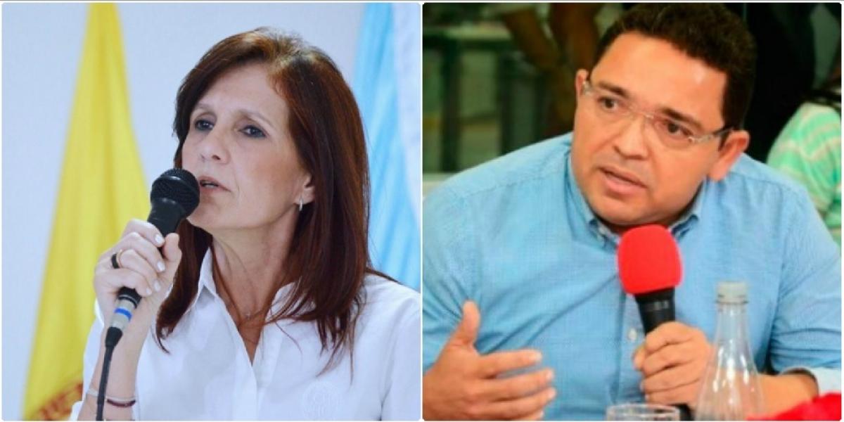 Rosa Cotes, gobernadora y Rafael Martínez, alcalde de Santa Marta.