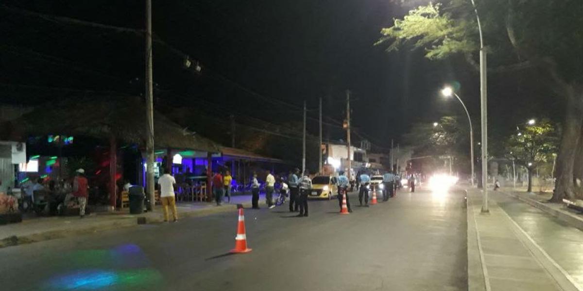 El puesto de control estaba ubicado en la avenida de El Río con carrera 19 en Santa Marta.