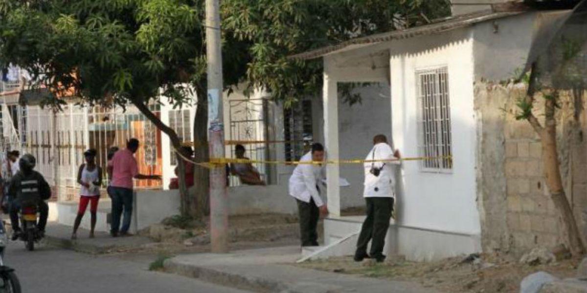 Lugar donde ocurrió el homicidio.