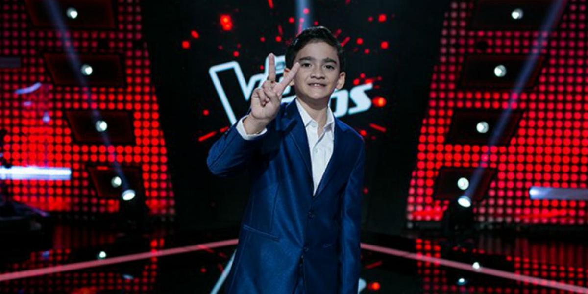 Jorge Nasra, participante de la Voz Kids.