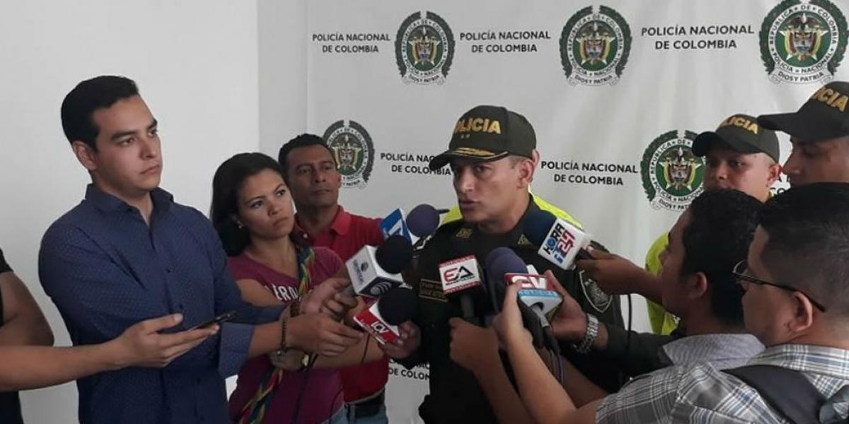 El General Mariano Botero, Comandante de la Policía Metropolitana de Barranquilla.