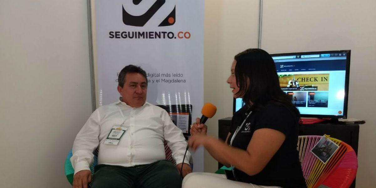 Omar García, Presidente de Cotelco Magdalena, durante la entrevista con nuestra periodista Hellen Lara Garizao.