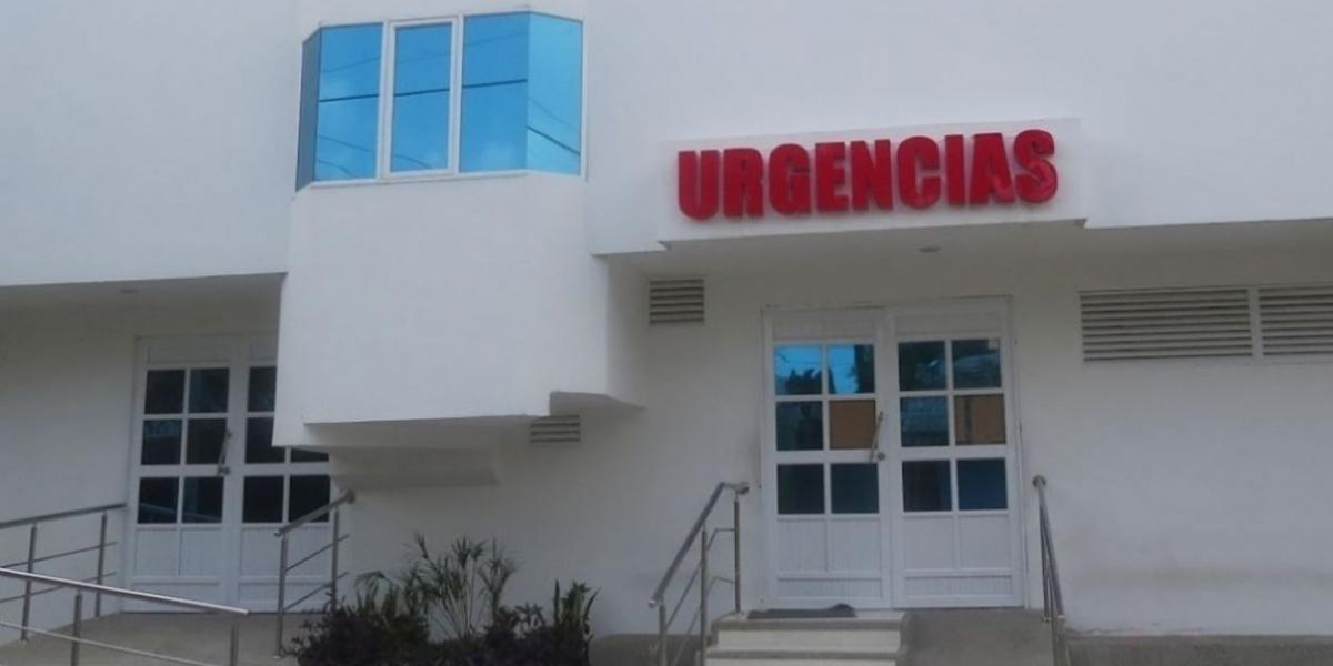 Fachada de la clínica Los Almendros de Soledad, Atlántico.
