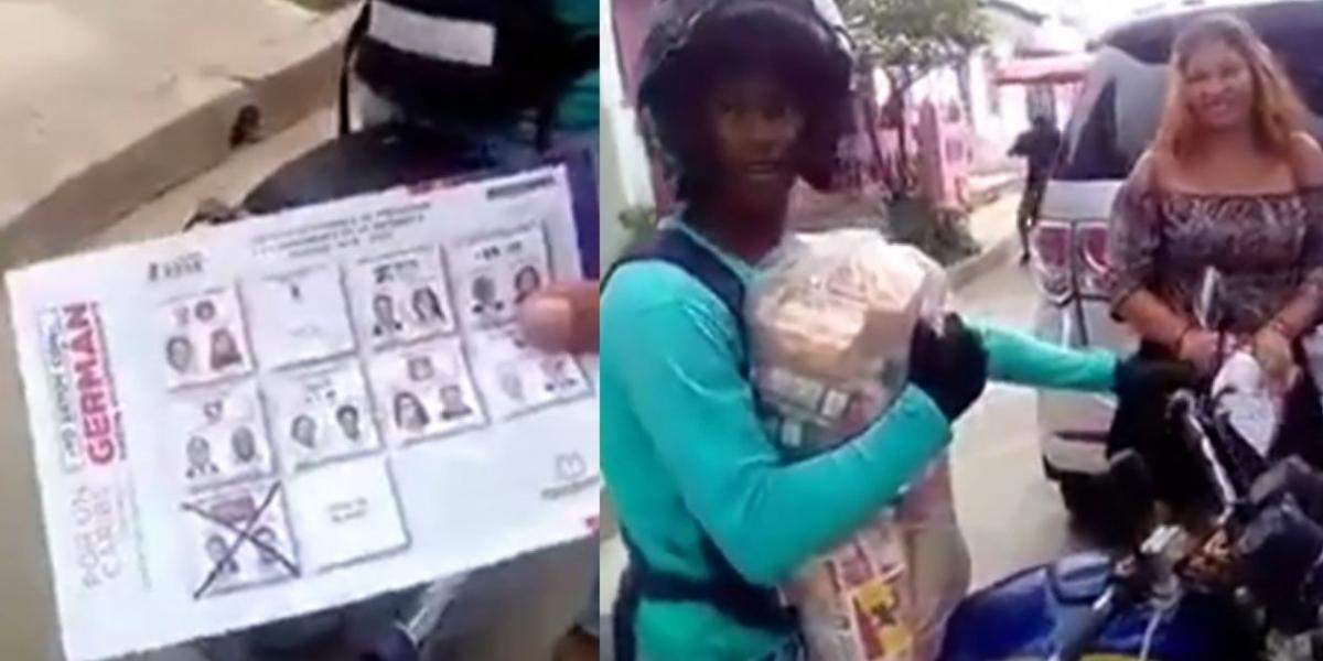 Captura de Video de presunta compra de votos en Galapa.