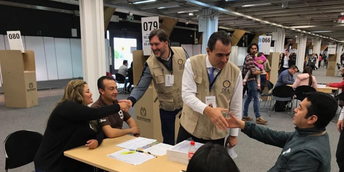 Kevin Casas de la Misión de Veeduría Electoral de la OEA.