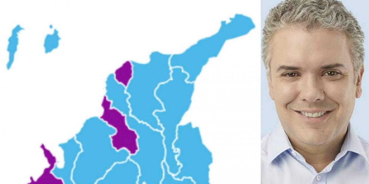 El nuevo Presidente de Colombia ganó en 6 de los 8 municipios de la Región Caribe e Insular.