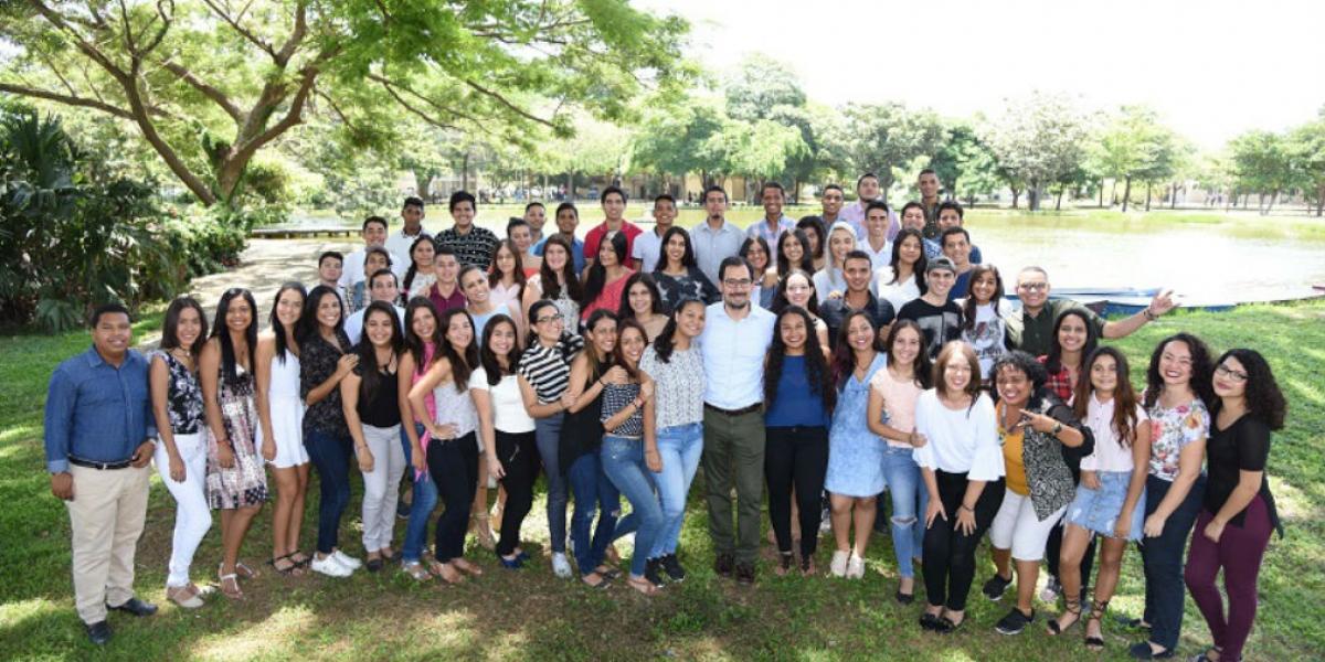 Estudiantes de Unimagdalena que saldrán de intercambio el segundo semestre de 2018.