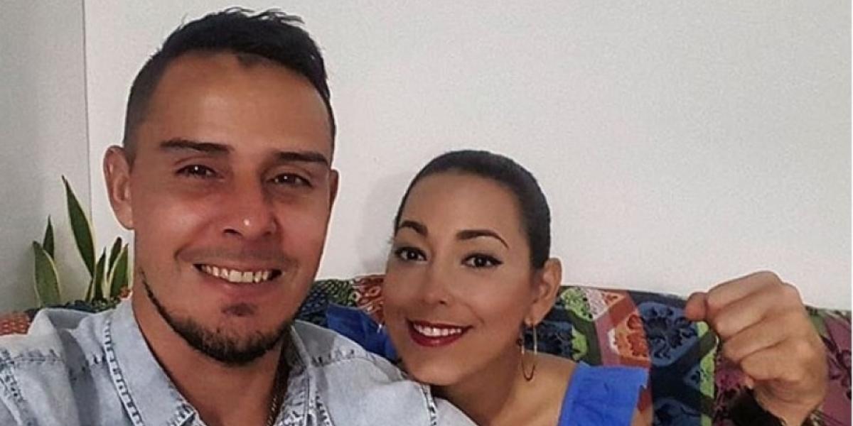 Luis Delgado y esposa.