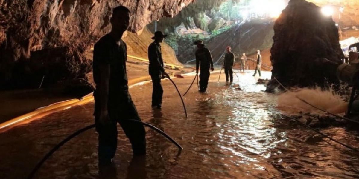 Operación rescate en Tailandia.