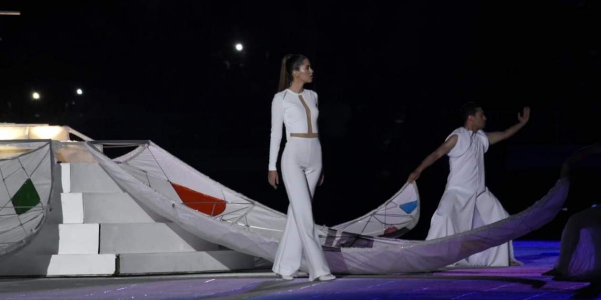Paulina Vega durante la inauguración.