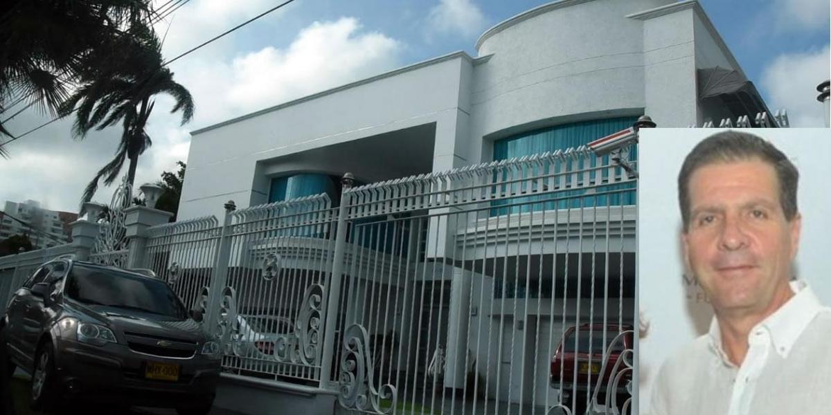 Llegó solo en un taxi hasta su vivienda, ubicada en el norte de Barranquilla.