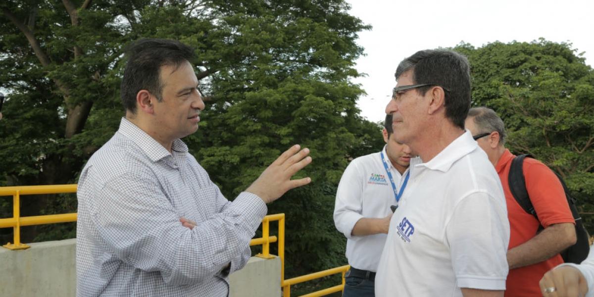 El subdirector del Departamento Nacional de Planeación (DNP), Diego Dorado Hernández, durante su visita a Santa Marta.