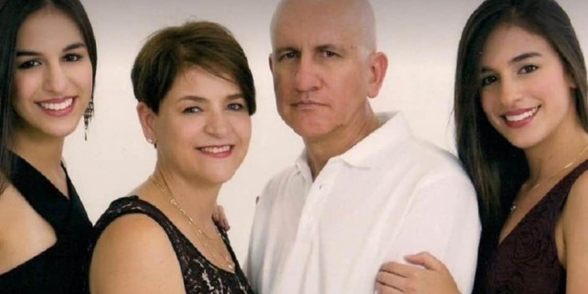 Carlos Mario Peña y su familia, muertos en accidente.