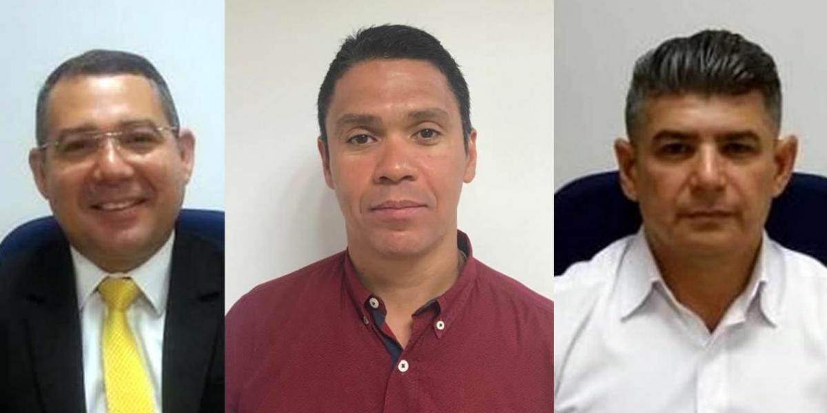 Ramiro Castilla Andrade, gerente Atlántico Norte; Edwin Goenaga Grandet, gerente Magdalena y Jorge Rivero Cuadro, gerente Cesar.